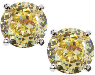 Kenneth Jay Lane CZ by Round Cubic Zirconia Stud Earrings, Yellow