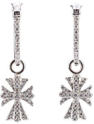 Elise Dray Diamond Cross Earrings
