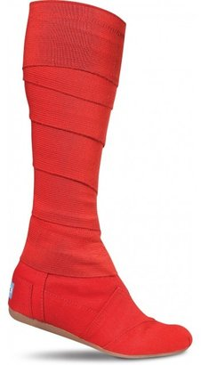 Toms Red vegan women's wrap boots