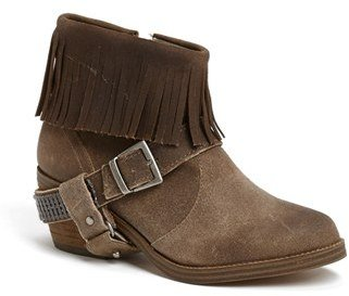 Steve Madden 'Cavvo' Fringed Suede Harness Bootie