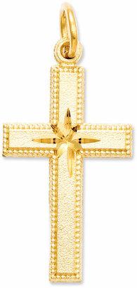Macy's 14k Gold Charm, Cross Charm