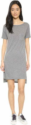 Alexander Wang Classic Boat Neck Dress with Pocket