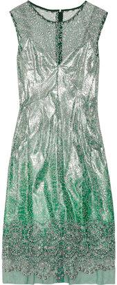 Marc Jacobs Metallic embellished tulle dress