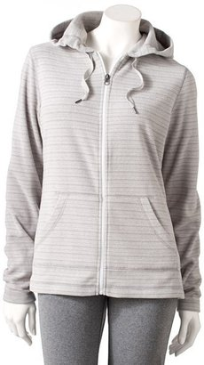 Tek gear striped microfleece hoodie