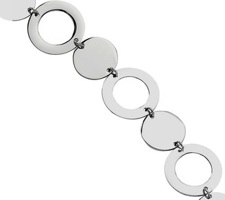 """Steel By Design Stainless Steel 7-1/2"""" Polished Circle Bracelet"""