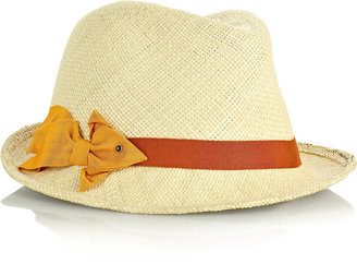 Eugenia Kim Astrid goldfish-ribbon panama hat