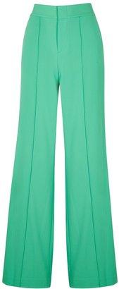 Alice + Olivia Dylan Green Wide-leg Trousers