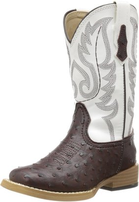 Roper Square Toe Faux Ostrich Western Boot (Toddler/Little Kid)
