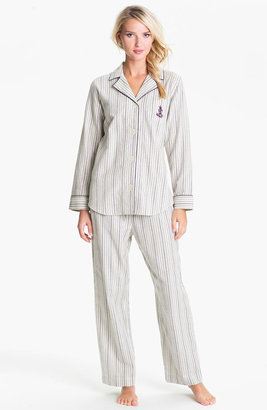 Lauren Ralph Lauren Sleepwear Brush Twill Plaid Pajamas
