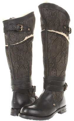 UGG Collection - Drina (Black Lace) - Footwear