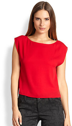 Alice + Olivia Cropped Lincoln Top