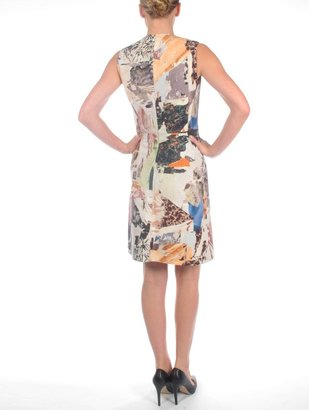 Carven Printed Wool Sleeveless Dress