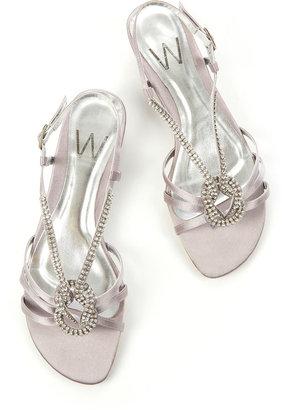 Wallis Silver Diamante Wedge Sandals