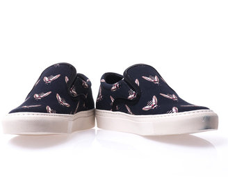 Mother of Pearl Bee-print slip-on trainers
