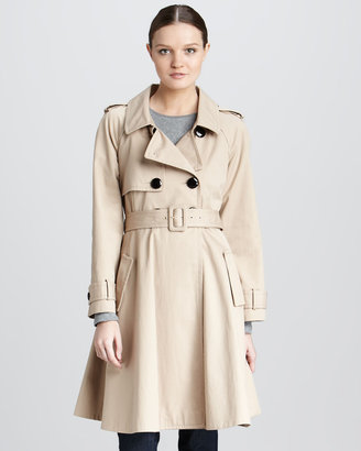 Kate Spade Dianne Flared Cotton Trenchcoat