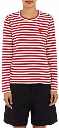 Comme des Garçons PLAY Women's Striped Long-Sleeve T-Shirt $158 thestylecure.com