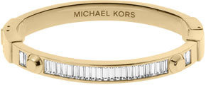 Michael Kors Astor Baguette Hinge Bangle, Golden