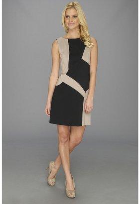 Suzi Chin for Maggy Boutique Sleeveless Color Block Sheath Women's Dress