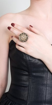 eDressMe One Size Shiny Floral Cocktail Ring