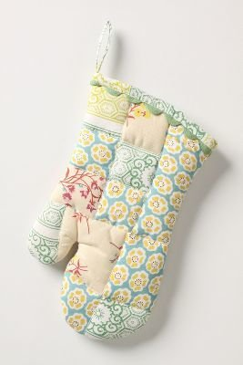Anthropologie Sewing Basket Oven Mitt