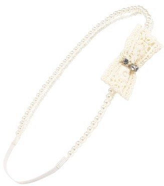 Capelli of New York Faux Pearl Headband (Juniors) (Online Only)