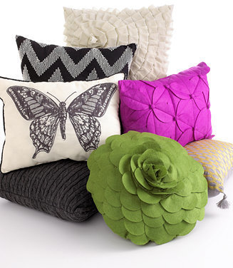 "Idea Nuova CLOSEOUT! Geometric Tassel 12"" x 16"" Decorative Pillow"