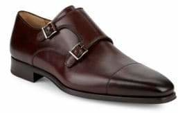 Double Monkstrap Leather Shoes