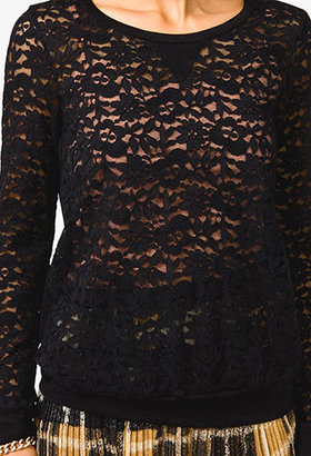 Forever 21 Long Sleeve Lace Top