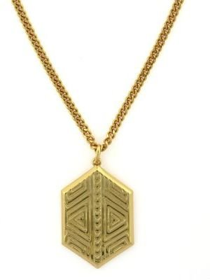 Vince Camuto Tribal Fusion Gold-Tone Pendant Necklace