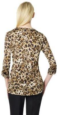 Jones New York Collection Long Sleeve V-Neck Blouse