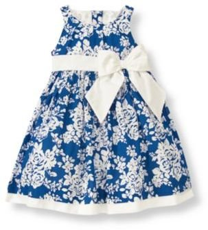 Janie and Jack Floral Bow Dress