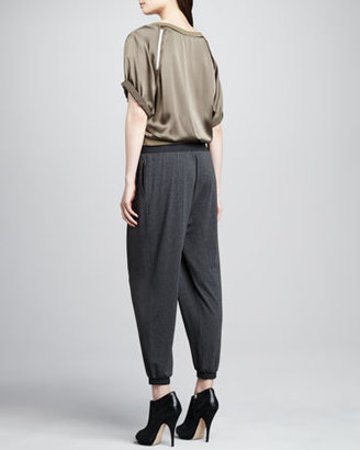 Elizabeth and James Benjamin Knit Tapered Trousers
