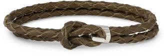 Miansai Woven-Leather and Silver Hook Wrap Bracelet
