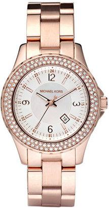 MICHAEL Michael Kors Michael Kors 'Mini Madison' Twin Row Crystal Watch, 33mm