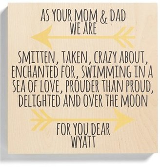 Someday Inc. 'Parents' Personalized Birchwood Wall Art $79.95 thestylecure.com