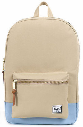 Herschel Supply The Settlement Mid Volume Backpack in Khaki and Steel Blue