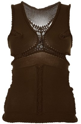 Mark Fast Knitted corset