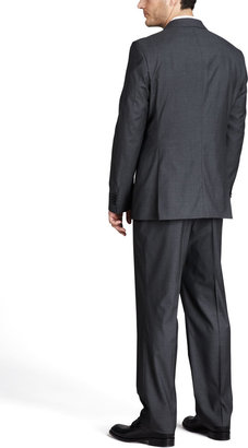 HUGO BOSS Basic Two-Button Suit, Charcoal