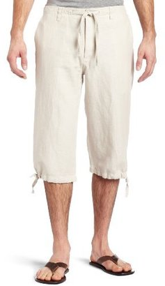 Perry Ellis Men's Linen Clam Digger Short