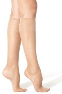 Hanes Women's Silk Reflections Knee Highs Silky Sheers 775