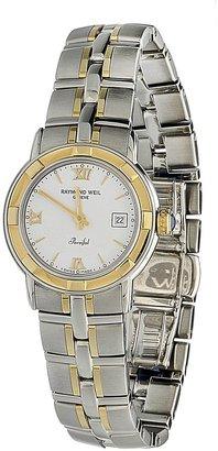 Raymond Weil Women's 9440-STG-00307 Parsifal Stainless Steel Case & 18k Gold Bracelet Watch