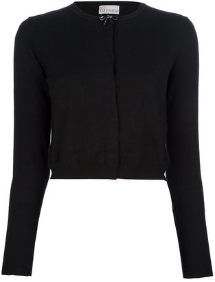 RED Valentino cropped bow tie cardigan