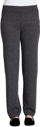 Neiman Marcus Cashmere Straight-Leg Pants
