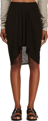 Helmut Lang Black Jersey Scala Skirt