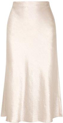 Vince Ivory High-waisted Satin Skirt