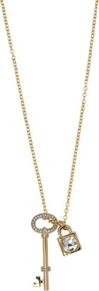 Juicy Couture Pave & Key lock necklace