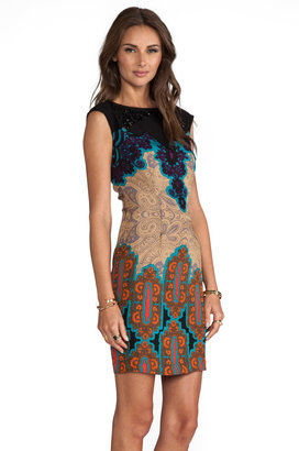 Tracy Reese Medallion Sarasatic Print Placement Shift Dress