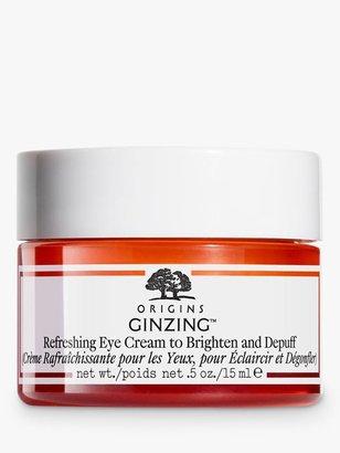 Origins GinZing Refreshing Eye Cream To Brighten And Depuff, 15ml