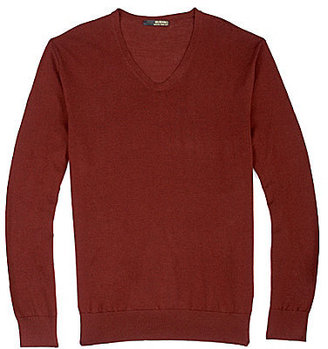 Murano Italian Luxury Long-Sleeve V-Neck Sweater