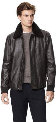 Theory Asmond Coat in Gamba Leather